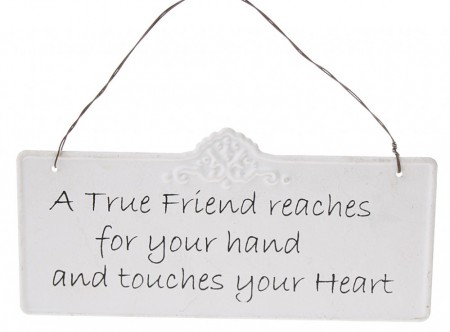"On Skilt "" True Friend """