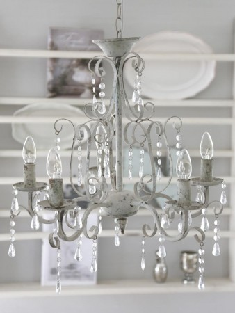 """Chic Antique Lysekrone 5 armet """"Chic"""""""