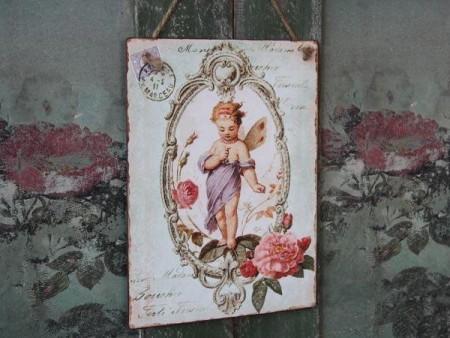 "Chic Antique Skilt "" Engel Lilla """