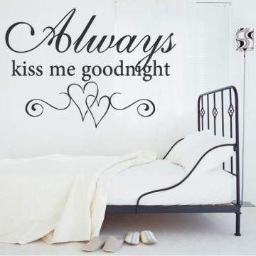 "La Finesse Wallstickers "" Always Kiss Me """