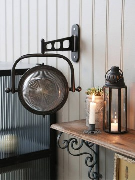 "Chic Antique ""Factory"" Vegglampe Rund"